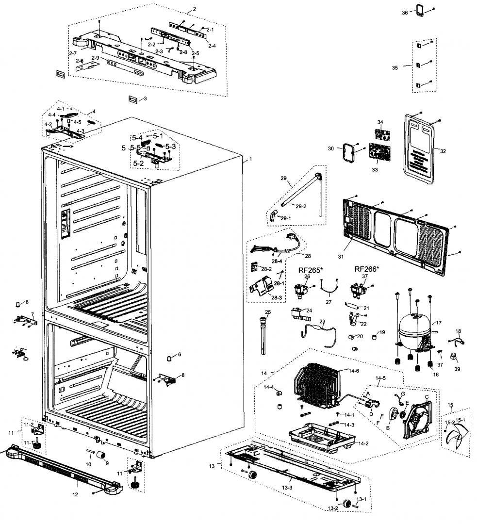 [WRG-9599] Samsung French Door Wiring Schematic