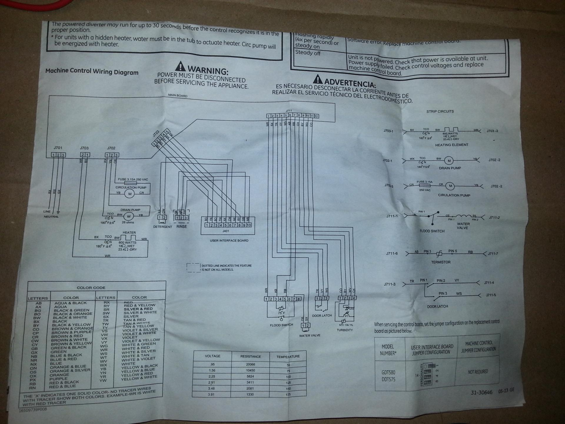 FIXED - GDT580SGF0WW GE dishwasher not heating, tried several things,  What's next?   Applianceblog Repair Forums   Ge Dishwasher Wiring Diagram      ApplianceBlog