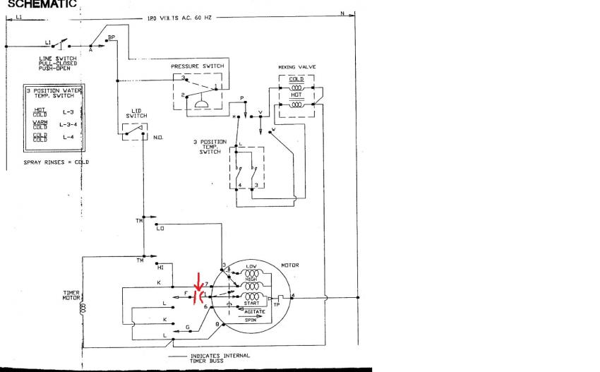 FIXED - AWS44NW Speed Queen Washer will spin but not agitate    Applianceblog Repair Forums   Speed Queen Washing Machine Wiring Diagram      ApplianceBlog