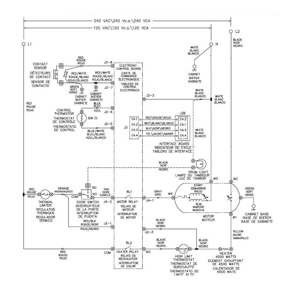 Frigidaire Affinity Dryer Wiring Diagram