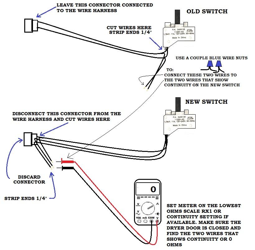 Dryer Door Switch   ApplianceBlog Repair Forums inside a dryer door switch ApplianceBlog
