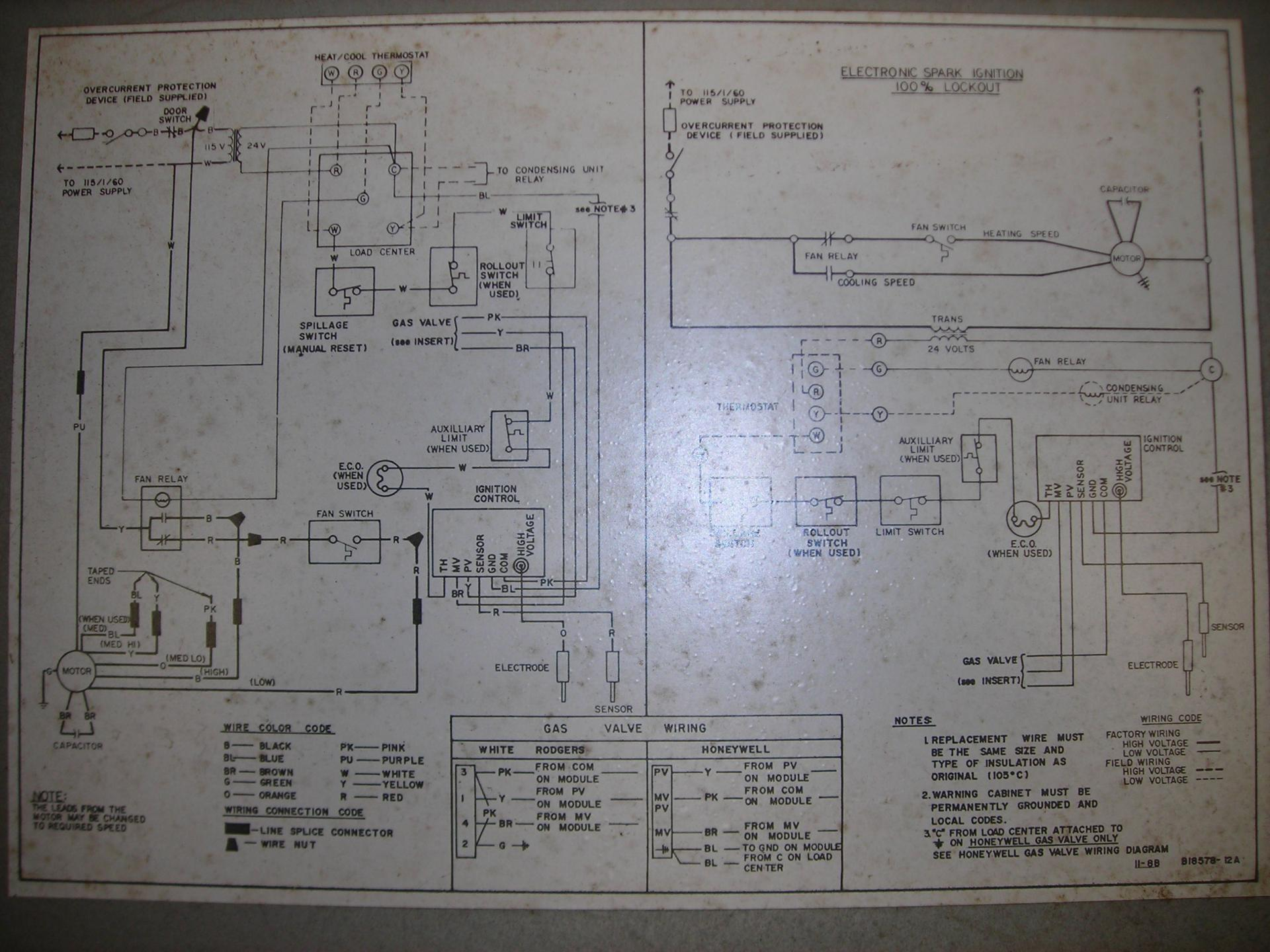 Thermostat Wiring Color Code Also Furnace Fan Center Wiring Diagram