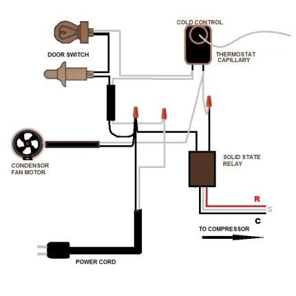 Adding a new relay to 1950's GE Refrigerator   Applianceblog Repair Forums   Ge Hotpoint Refrigerator Wiring Diagram      ApplianceBlog