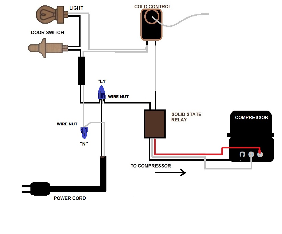 gm frigidaire refrigerator new relay wiring problems click image for larger version hotwire to solid state no fan jpg that wire diagram