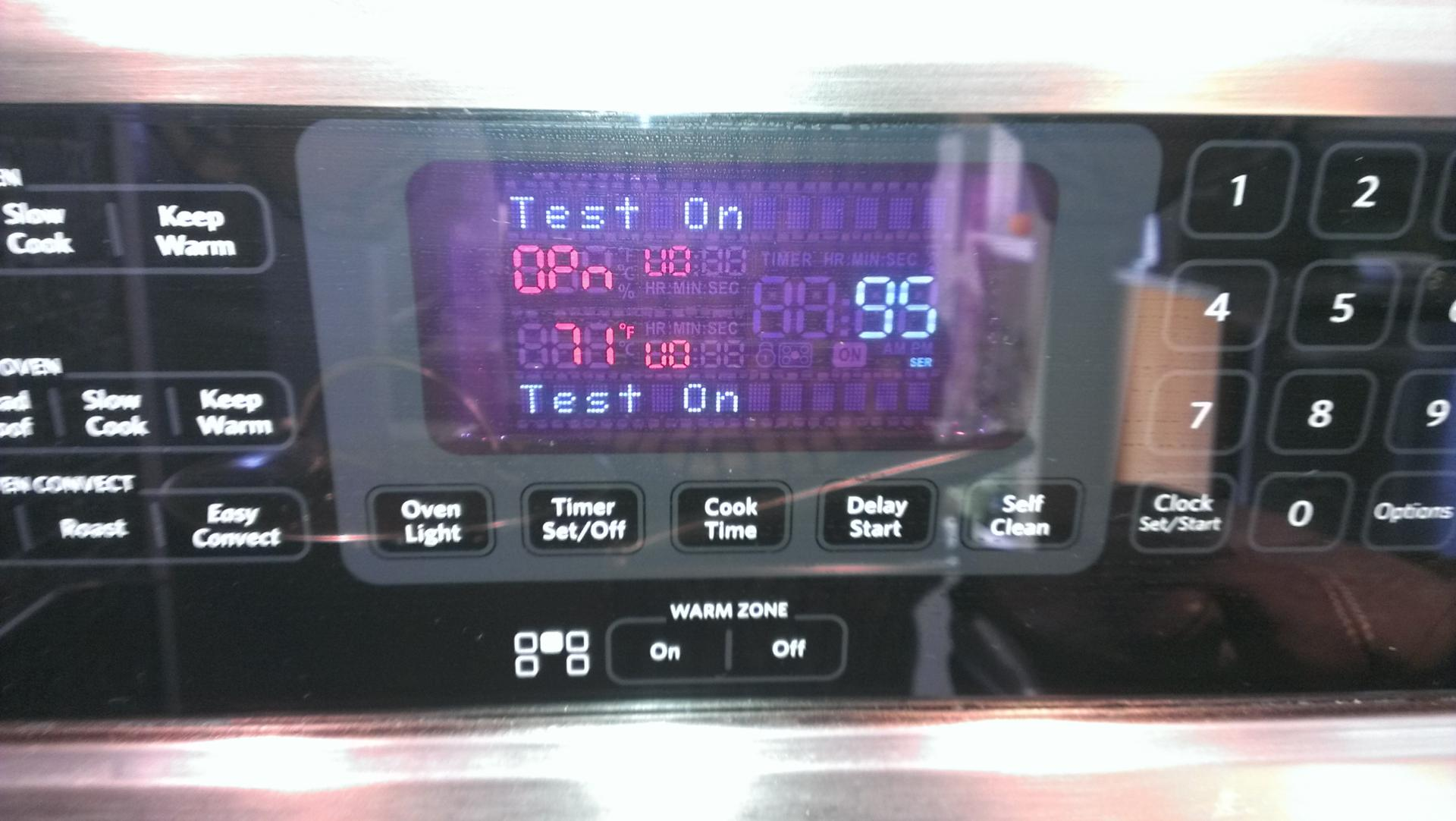 Feature Not Available - when oven started