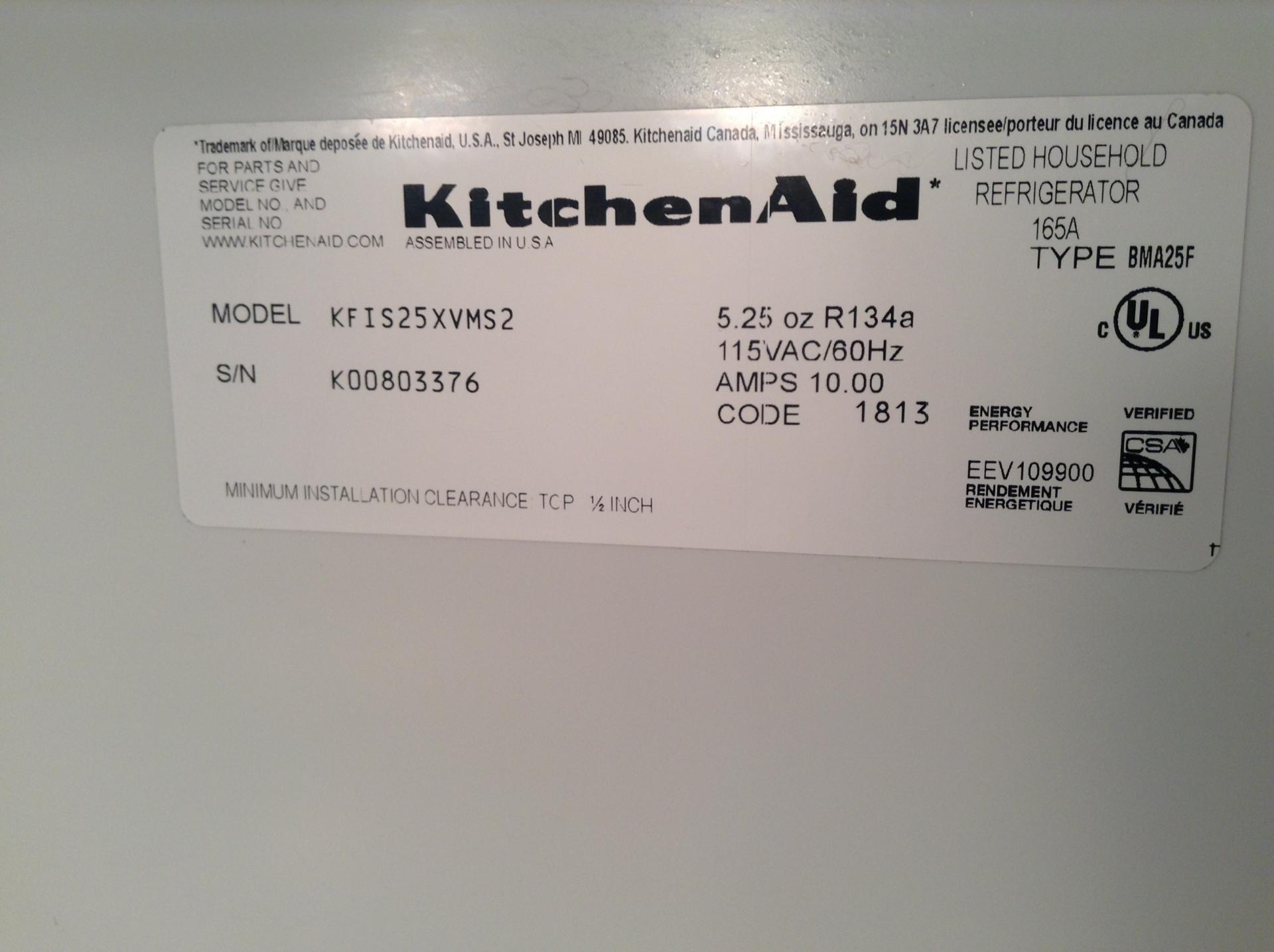 kitchenaid refrigerator programing - Kitchen Design