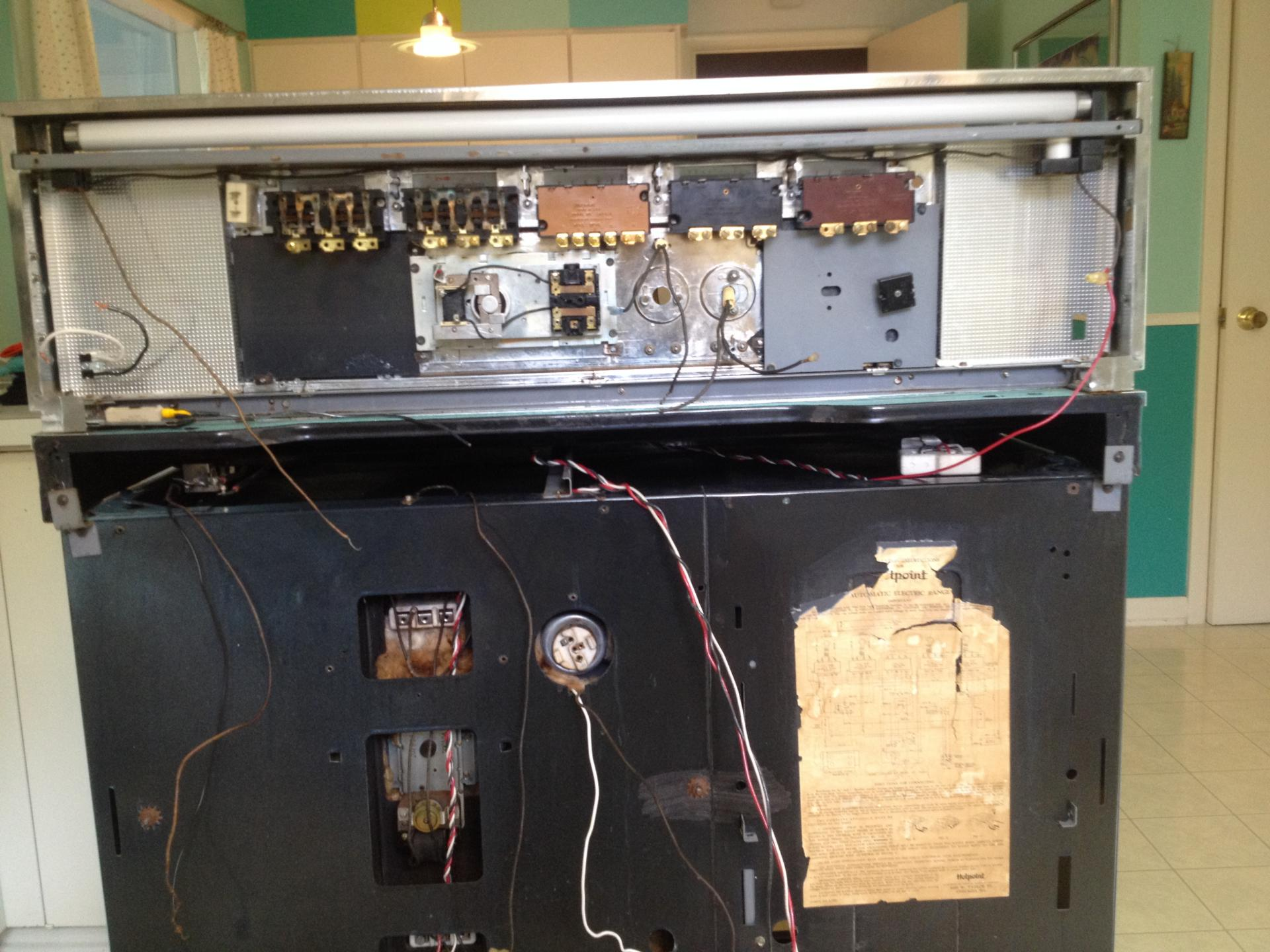 Need Help locating Burner Switches For Vintage 1960 Hotpoint Electric Range  | ApplianceBlog Repair Forums