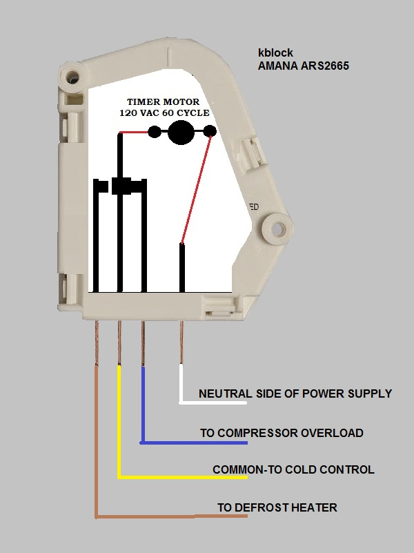 wiring diagram for an evaporator fan motor ars2665ab refrigerator compressor and evaporator fan do not run  ars2665ab refrigerator compressor and