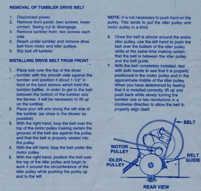 Fixed Maytag Dryer Belt Rubs On Motor Pulley