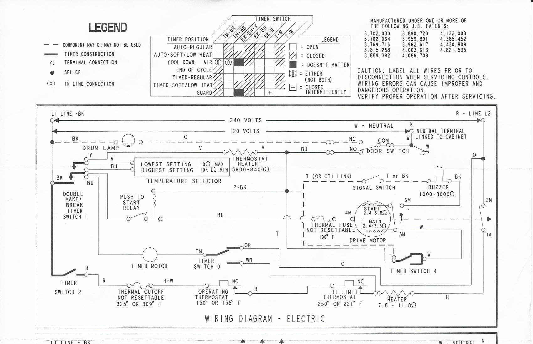 fixed maytag electric med5600tqd motor doesn\u0027t run kenmore dryer wiring diagram maytag de712 dryer wiring diagram and