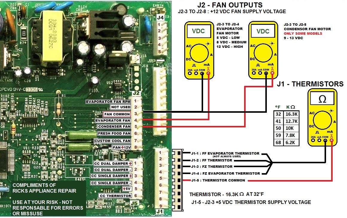 Ge Sxs Plastic Metal Liner Motherboard Evaporator Fan Motor