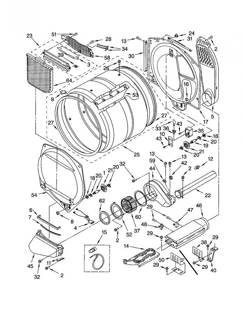 Whirlpool Duet Dryer, Model GGW9200LW0 Error