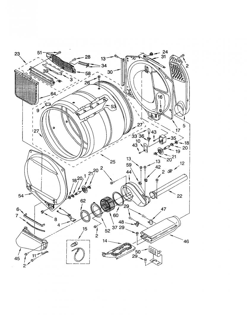 Fixed Kenmore Elite He3 Electric Dryer No Heat Wiring Diagram For Heating Element 3387747 Click Image Larger Version Name P0309045 00003 Views 2436
