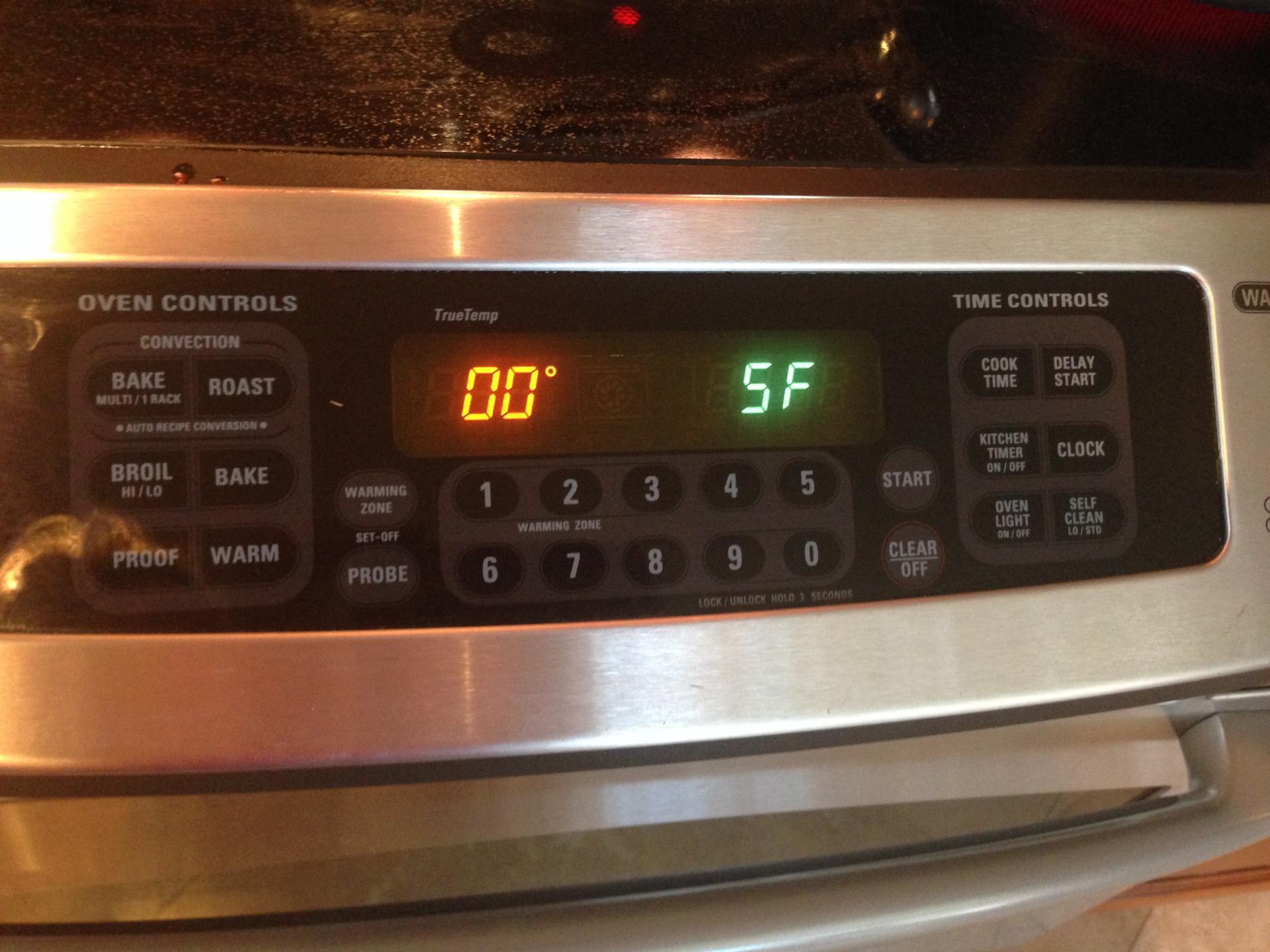 GE Oven Error Code