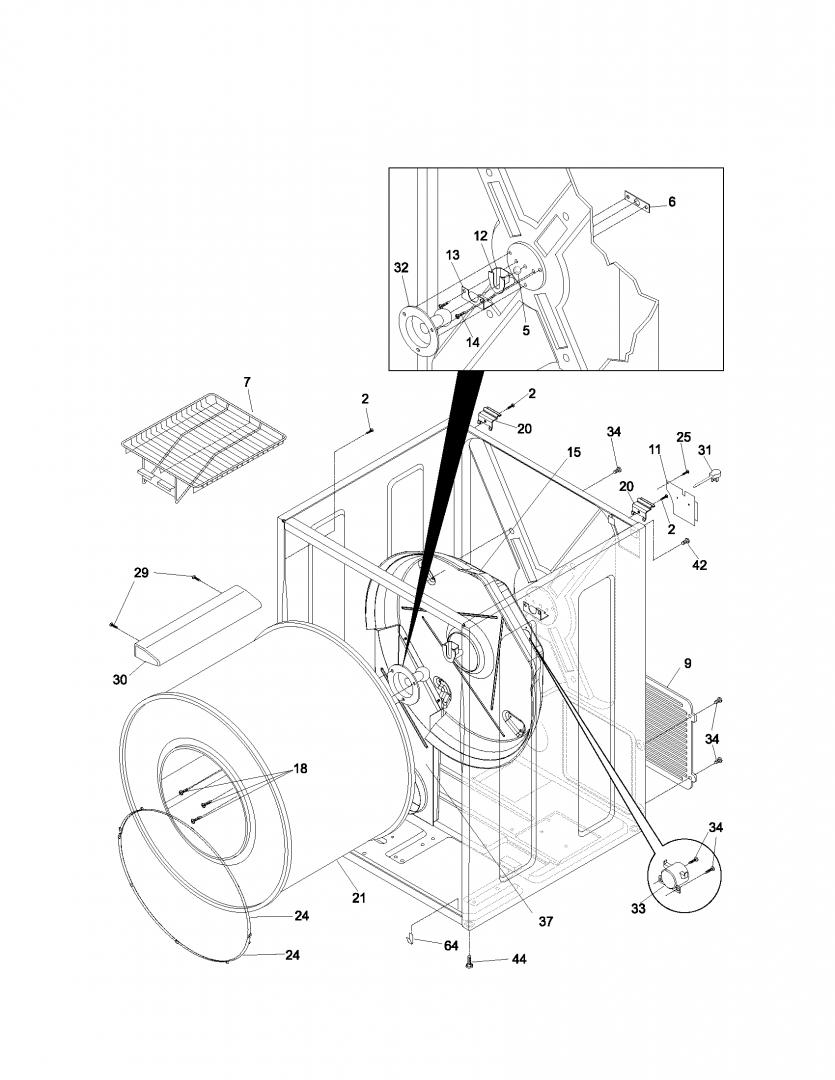 Fixed Sears Kenmore Gas Dryer Model No 41793042202 Does Not Heat 70 Series Washer Parts Diagram As Well 80 Click Image For Larger Version Name R0305516 00001 Views 342