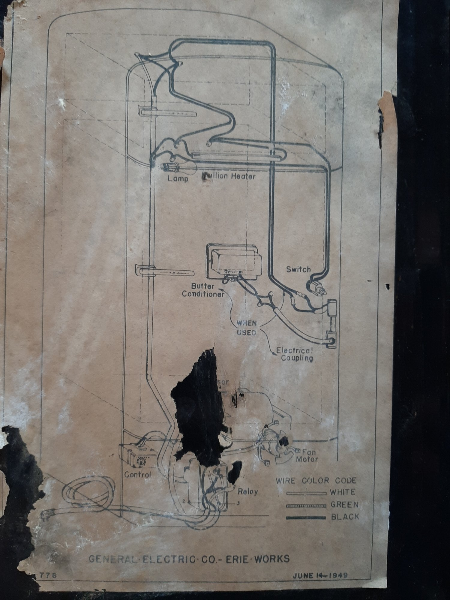 1950 GE combination fridge wiring problem - Model NH-10-GC | Applianceblog  Repair Forums | Ge Refrigerator Wiring Diagram Problem |  | ApplianceBlog