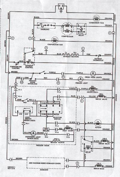 fixed fridge not working  model number mismatch?, Wiring diagram