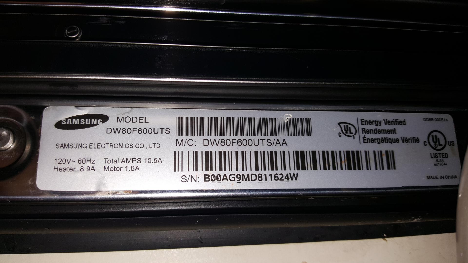 Samsung Dw80f600uts No Power Nor Touchpad Response Until Applianceblog Repair Forums