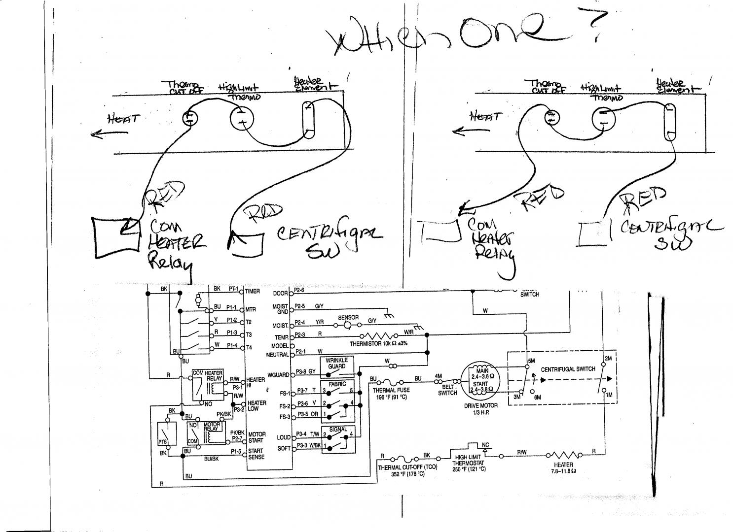 Kenmore Dryer Thermostat Wiring Diagram from www.applianceblog.com