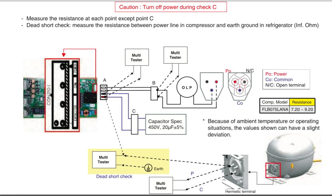 FIXED - LMXS30746S linear compressor, dual eval not cooling | ApplianceBlog  Repair ForumsApplianceBlog
