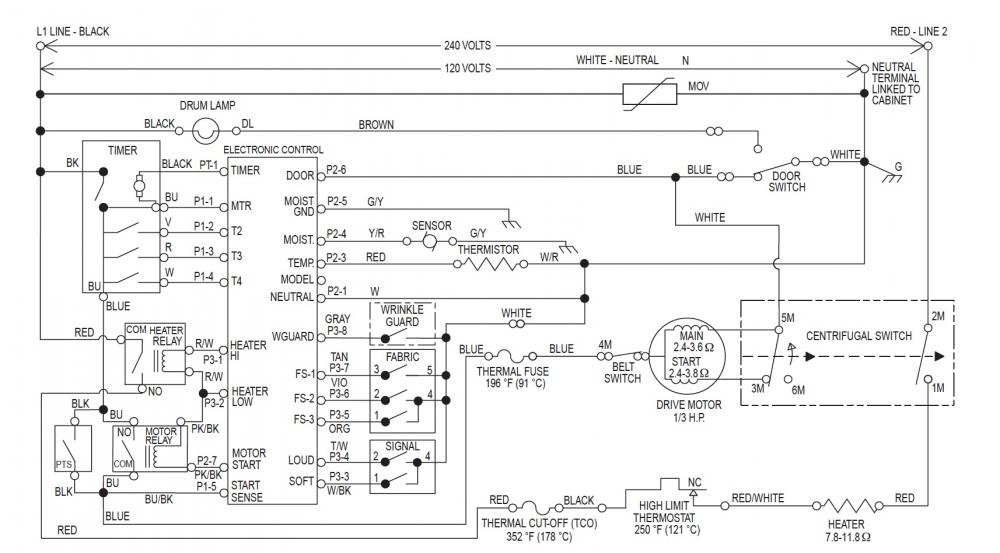 Fixed kenmore 90 series electric dryer runs but no heat name wiring diagramg views 1634 size cheapraybanclubmaster Images