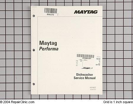 Hobart Dishwasher Repair manual maytag jetclean dishwasher